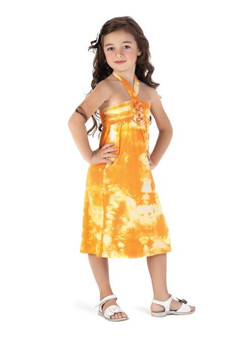 Puledro Elbise Oranj